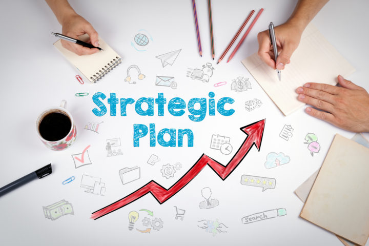 Image depicts a strategic Plan